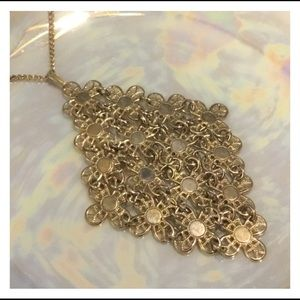 Vintage SARAH COVENTRY Chainmail Gold Necklace